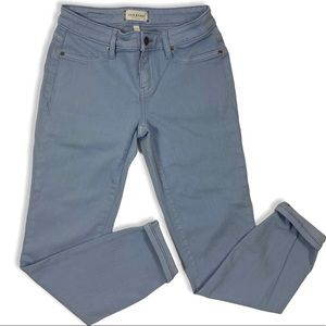 Lila Ryan Baby Blue Skinny cuffed Jeans, Size 26